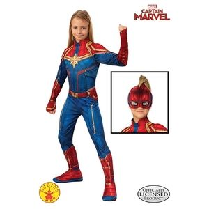 Girls Captain Marvel Hero Suit Costume Medium